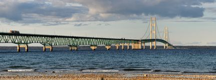 Mackinac Bridge panoramic Royalty Free Stock Photo
