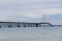 Mackinac bridge royalty free stock photography