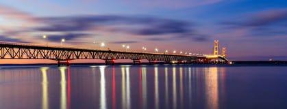 Mackinac Bridge in Twilight royalty free stock photo