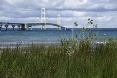 Mackinac Bridge in Upper Peninsula of Michigan. Royalty Free Stock Images
