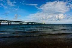 Mackinac Bridge in Upper Peninsula of Michigan. USA Royalty Free Stock Photos