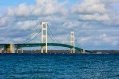 Mackinac Bridge in Upper Peninsula of Michigan. USA Royalty Free Stock Image