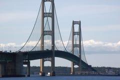 Mackinac bro Arkivfoto