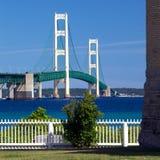 Mackinac bro, Mackinaw stad Michigan Royaltyfri Bild