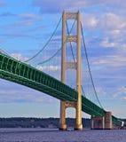 Mackinac bro, Mackinaw stad Michigan Fotografering för Bildbyråer