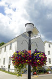 Mackinac City Hall. An image of the City Hall on Mackinac Island, Mich.  It is representative of the decor and architecture of the town Stock Photography