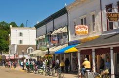 Mackinac główna ulica Obrazy Royalty Free