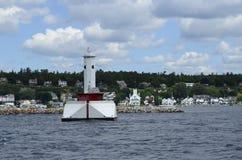 Mackinac Harbor. Image taken near the entrance to the Mackinac Island harbor on Lake Huron in Michigan Stock Images