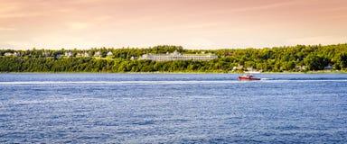 Mackinac-Insel-großartiges Hotel stockbilder