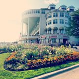 Mackinac island hotel. A step back in time Stock Images