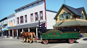 Mackinac Island Stagecoach stock photo