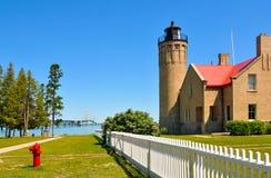Mackinac lighthouse Royalty Free Stock Photos