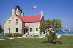 Mackinac Point Lighthouse Stock Photography