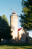 Mackinac stadsfyr Royaltyfria Bilder