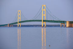 Mackinac suspension bridge Royalty Free Stock Images