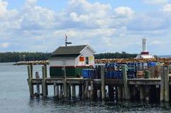 Mackinac Dock. An image typical of the wharf area on Mackinac Island, Mich Stock Photos