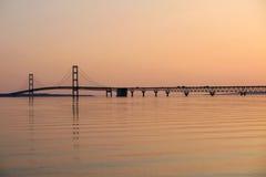 Mackinac zawieszenia most Obraz Royalty Free