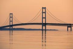 Mackinac zawieszenia most Zdjęcie Royalty Free