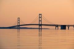 Mackinac zawieszenia most Obraz Stock