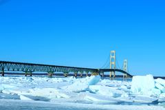 Bridge in the Winter royalty free stock photo