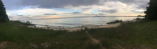 Mackinaw Bridge stock photography
