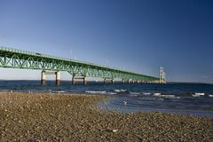 Mackinaw City Bridge Michigan Royalty Free Stock Photos