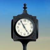 Mackinaw City clock Stock Photo