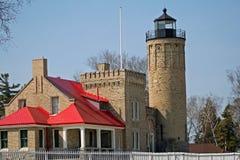 Mackinaw City Lighthouse Stock Image