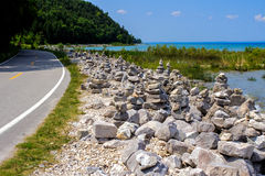 The Mackinaw Highway Royalty Free Stock Photos