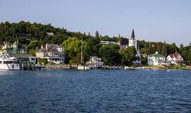 Mackinaw Island Waterfront District Royalty Free Stock Images