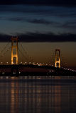 Mackinaw Nacht Stockbilder