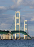 Mackinaw suspension bridge Stock Images