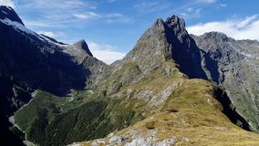 Mackinnon Pass, Milford Track, New Zealand. Royalty Free Stock Images