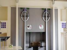 Mackintosh House. Art in the Mackintosh House in Glasgow Stock Photo