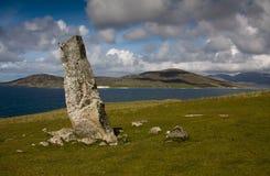 MacLeod's Stone, Nisabost, Harris, Scotl royalty free stock images
