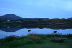 MacLeod's Tables and Loch Dunvegan. Pretty view of MacLeod's Tables with Loch Dunvegan Stock Photo