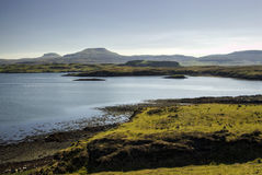 MacLeod's Tables Mountains, Dunvegan loch, Isle of Skye, Scotland Royalty Free Stock Photo
