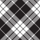 Macleod tartan plaid diagonal seamless pattern Stock Image