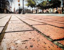 Macon Georgia. Brick sidewalk downtown Macon Georgia Royalty Free Stock Photo
