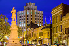 Macon Georgia Cityscape. Macon, Georgia, USA at the War Memorial to Confederate Soldiers Royalty Free Stock Photo