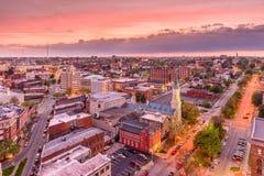 Macon, Georgia, USA. Downtown city skyline stock photography