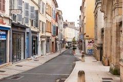 Macon Street Scene, Bourgondië, Frankrijk stock afbeelding
