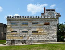Macoupin okręgu administracyjnego więzienie Zdjęcia Stock