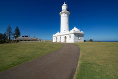 Macquarie Lighthouse and Keeper's Cottage, New South Wales, Australia. The Macquarie Lighthouse, also known as South Head Upper Light, was the first, and is the stock images