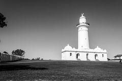 Macquarie Lighthouse in Sydney. Watsons bay is located 11km East of Sydneys CBD Royalty Free Stock Photography