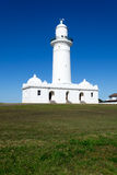 Macquarie Lighthouse in Sydney. Watsons bay is located 11km East of Sydneys CBD Stock Photo