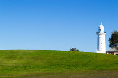 Macquarie Lighthouse in Sydney. Watsons bay is located 11km East of Sydneys CBD Stock Image