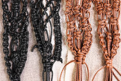 Macrame belts Stock Images