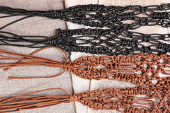 Macrame belts Stock Photo