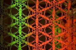 Macrame coloreado de los copos de nieve Imagen de archivo libre de regalías